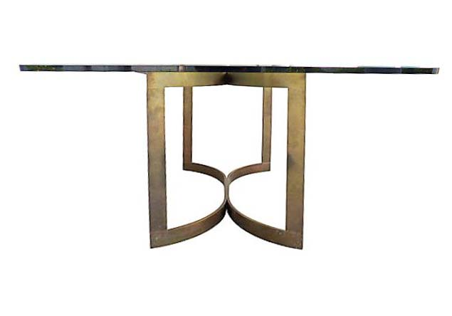 Awesome Modern Bronze U0026 Glass Dining Table