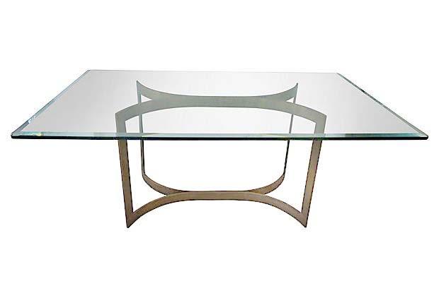 Modern Bronze U0026 Glass Dining Table