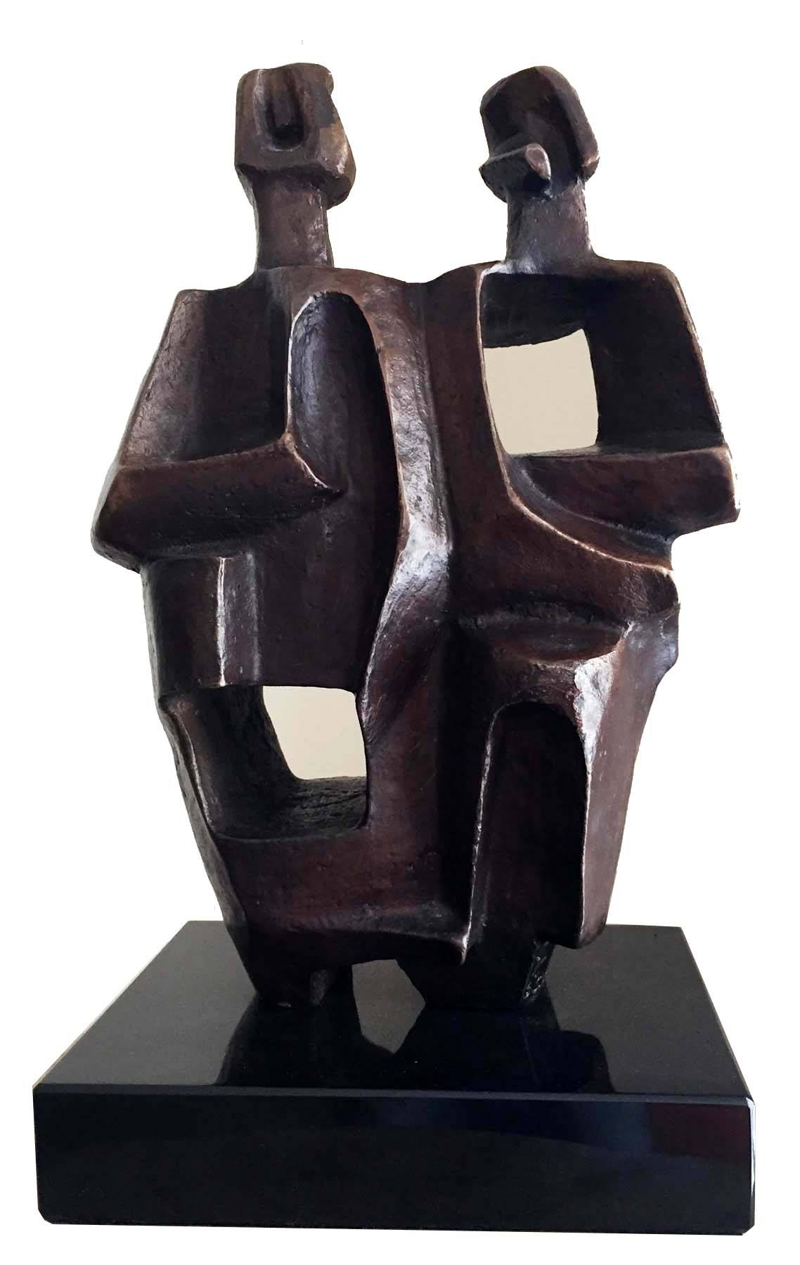 Charna Rickey Cubist Bronze American 1976 Modernism