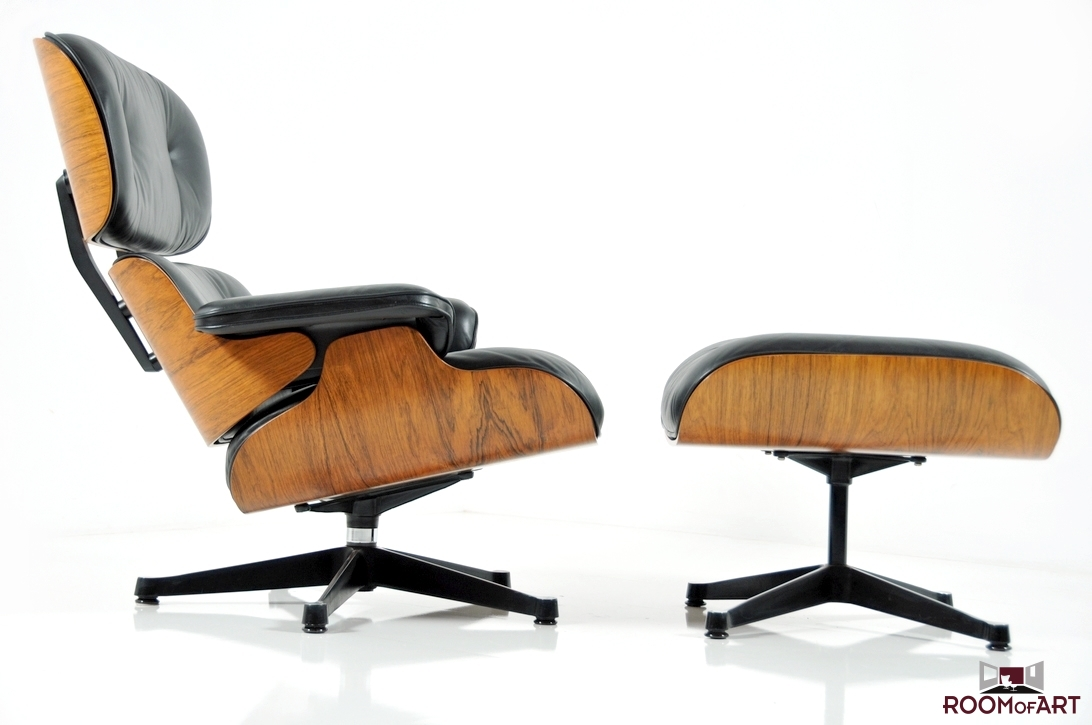 eames lounge chair ottoman in palisander modernism. Black Bedroom Furniture Sets. Home Design Ideas