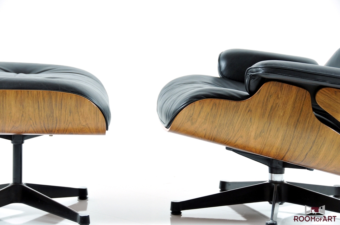 Vitra lounge chair amp ottoman white version von charles amp ray eames - Eames Lounge Chair Ottoman In Palisander