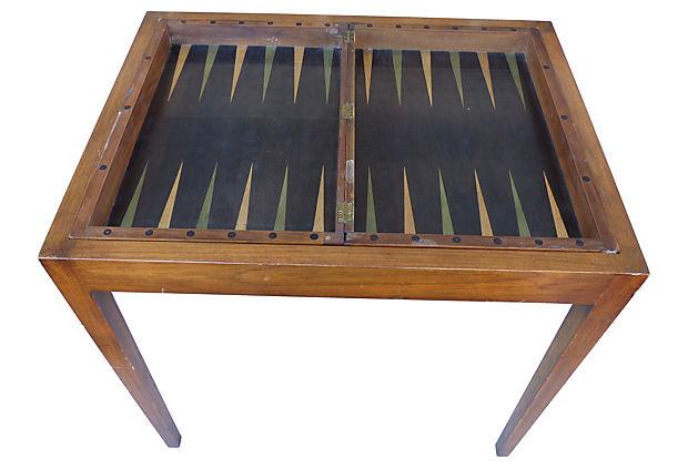 reversible chess backgammon table modernism. Black Bedroom Furniture Sets. Home Design Ideas