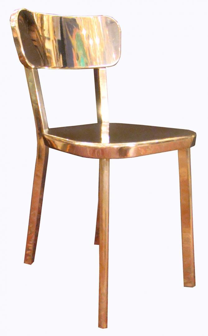 Etonnant Pair Naoto Fukasawa MAGIS Chrome Mirror Chairs   Deja Vu