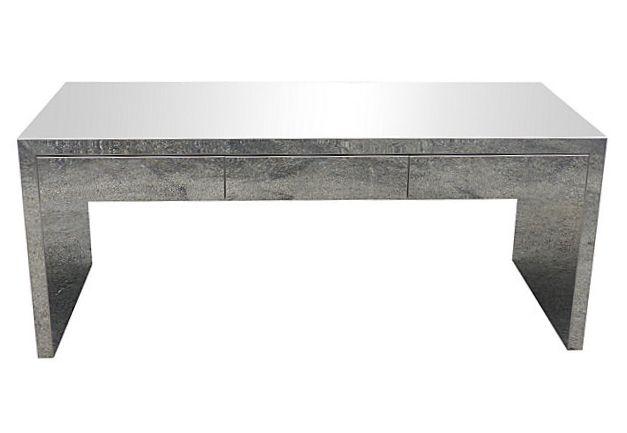 sleek mid century modern chrome desk | modernism