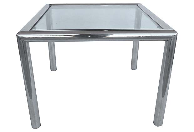 f1c7225474933 Mid-century Modern Tubular Chrome Side Table