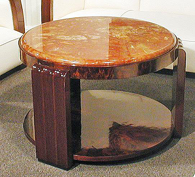 Round Coffee Table By Emile Dugay C 1930 Modernism
