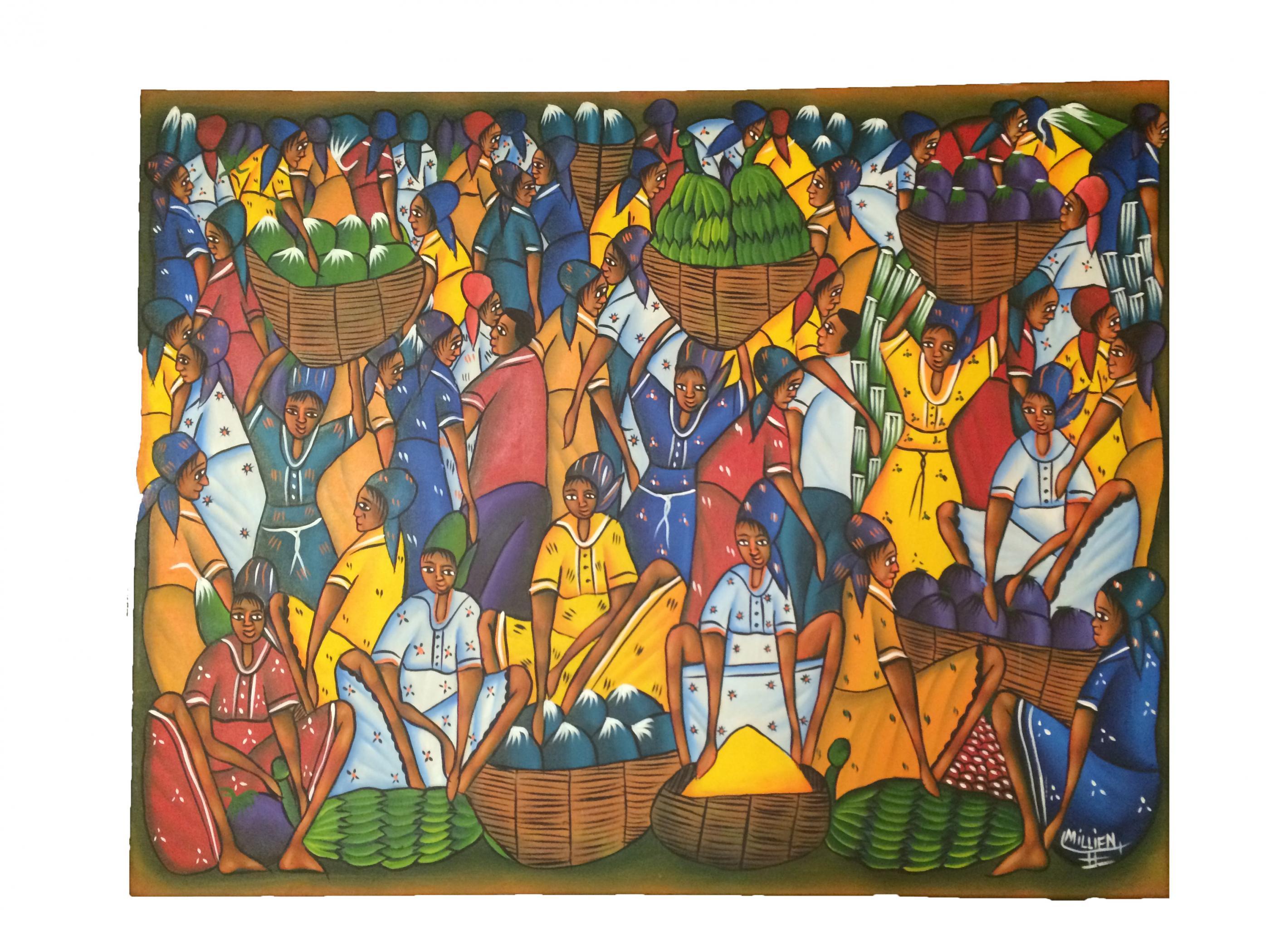Haitian Art Painting By Millien Modernism