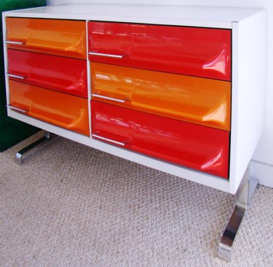 Mid Century Modern Dresser In The Manner Of Raymond Loewy