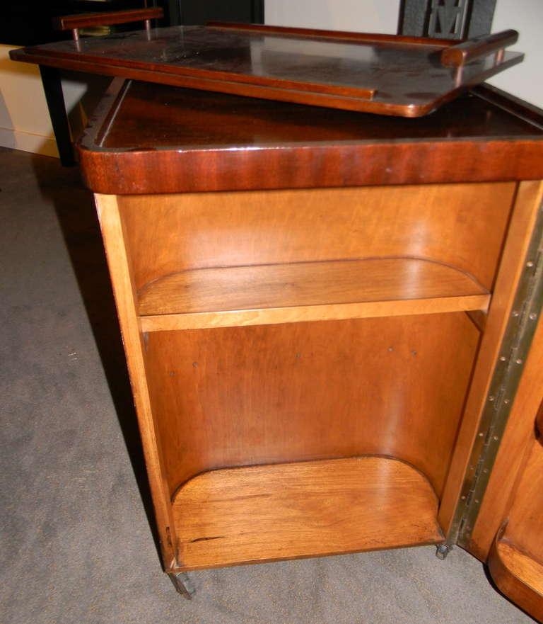Original Art Deco Bar Or Serving Cart Modernism
