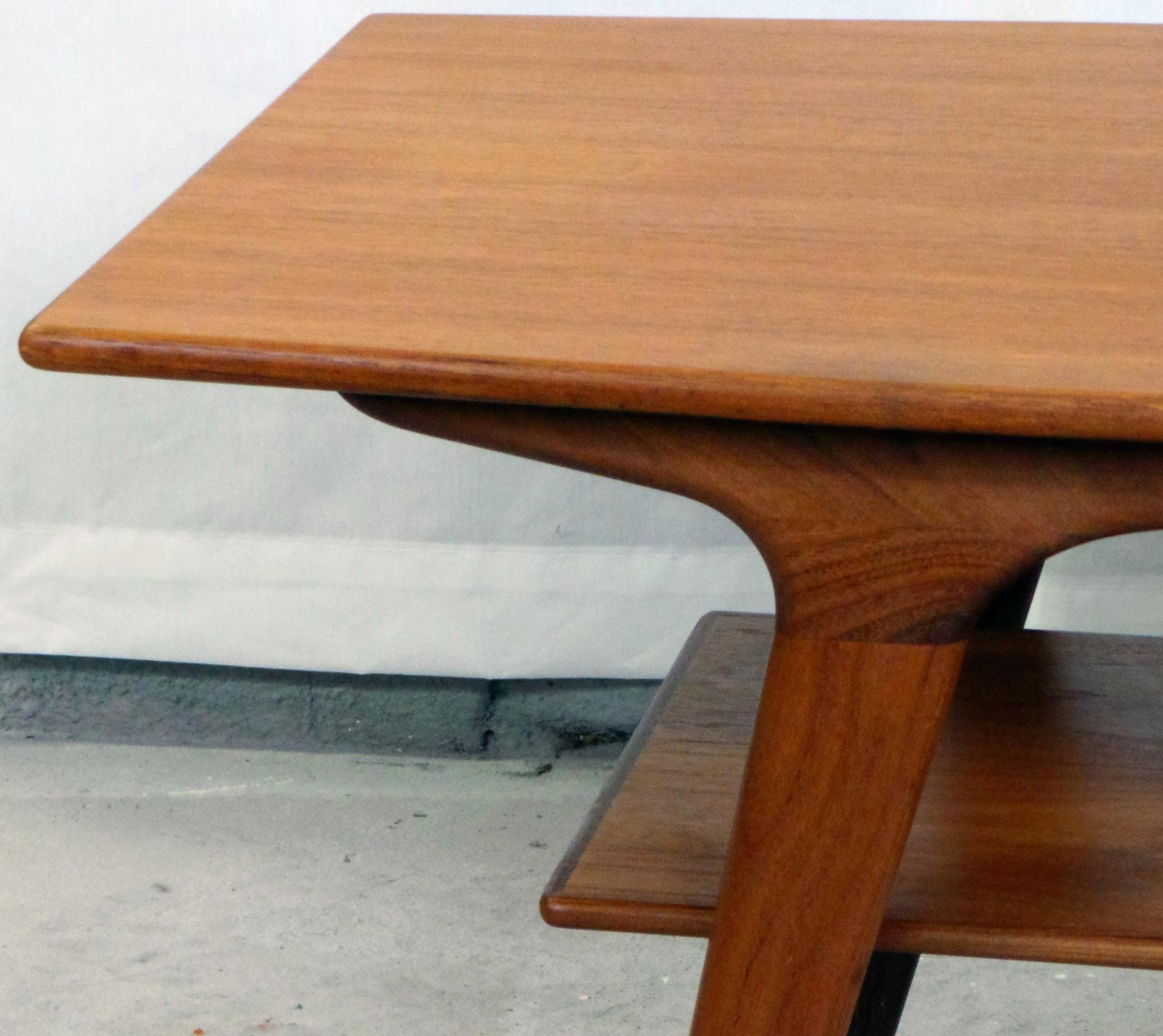 1950u0027s Danish Modern Teak Coffee Table