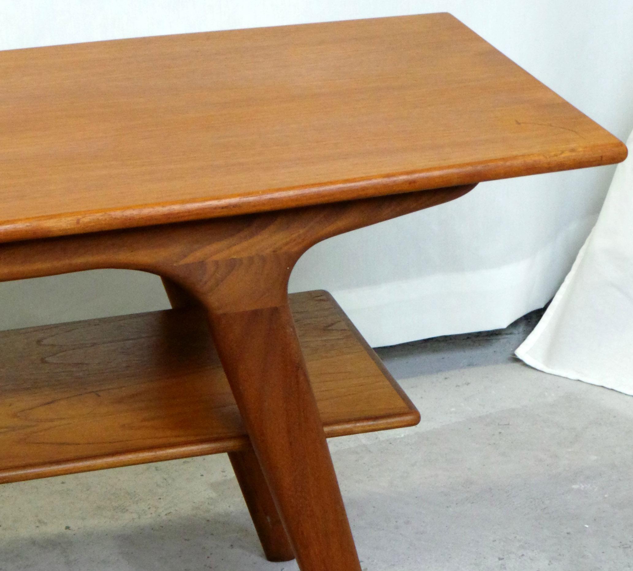 1950's danish modern teak coffee table | modernism