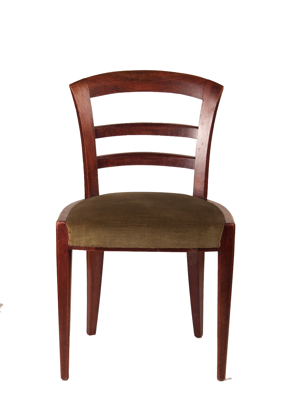 Dominique set of six mahogany dining chairs modernism for Mahogany dining room chairs