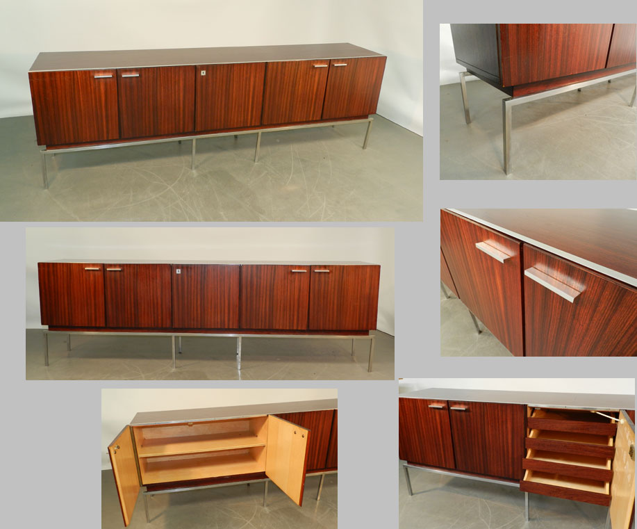 long mid century modern 1960 sideboard or buffet modernism. Black Bedroom Furniture Sets. Home Design Ideas