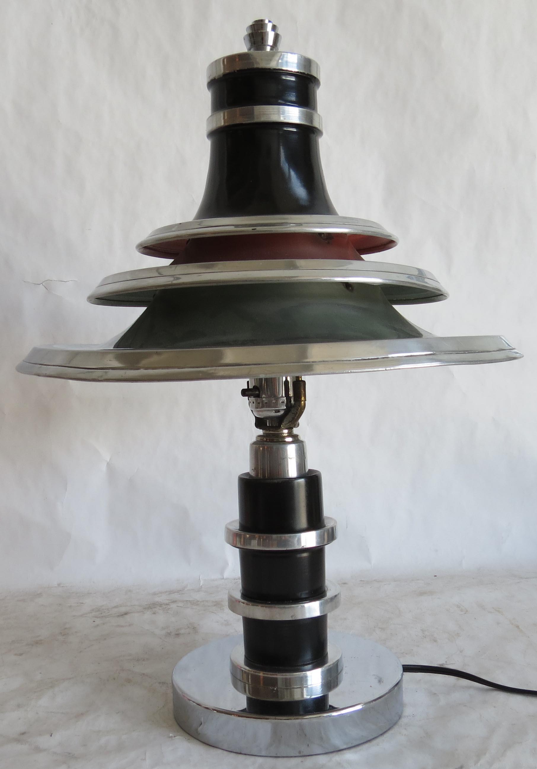 Edward Kent American Art Deco Table Lamp