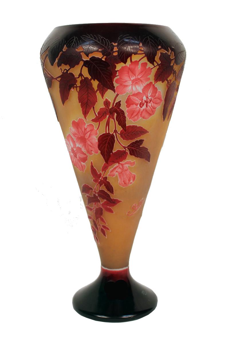 Monumental Art Nouveau Vase By Emile Galle Modernism