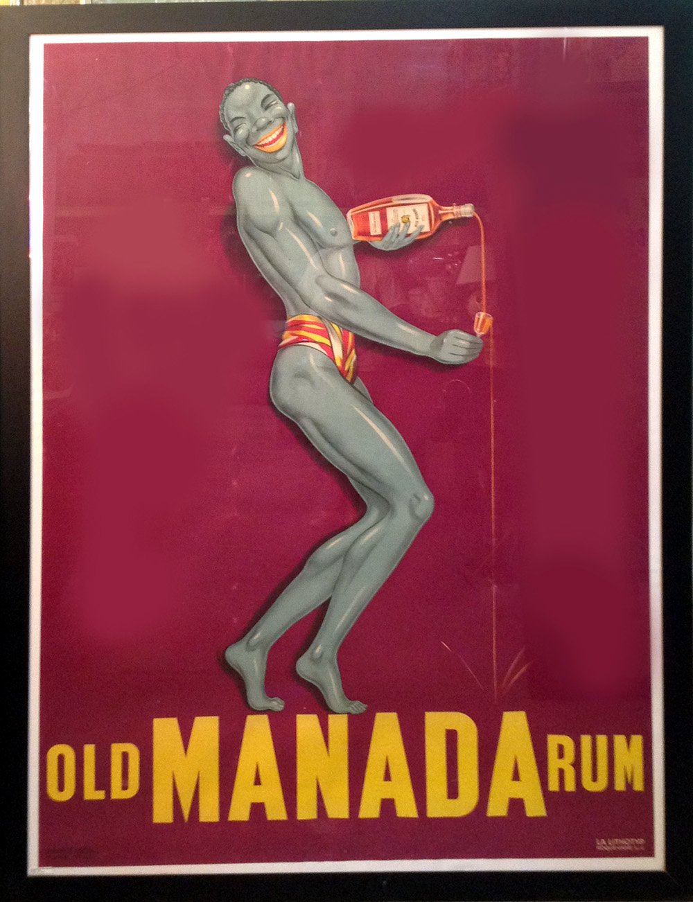 French Art Deco Poster Old Manada Rum Modernism