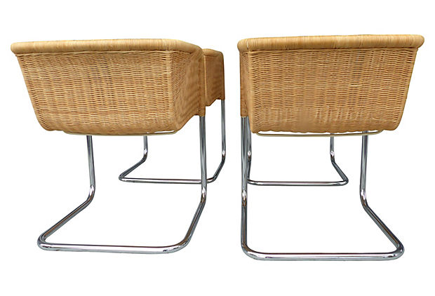 Wicker Chairs By Fabricius U0026 Kastholm For Harvey Probber