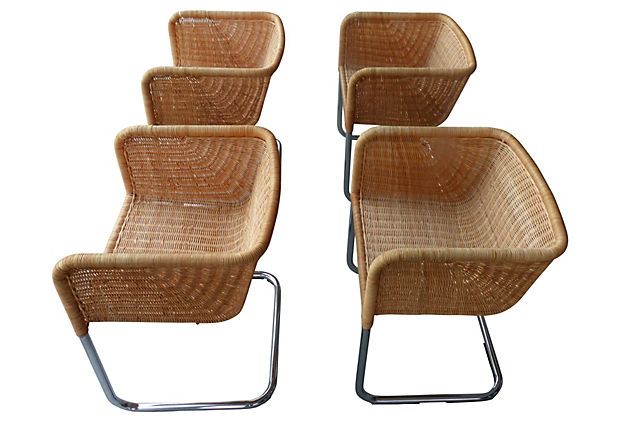 Superb Wicker Chairs By Fabricius U0026 Kastholm For Harvey Probber Nice Design