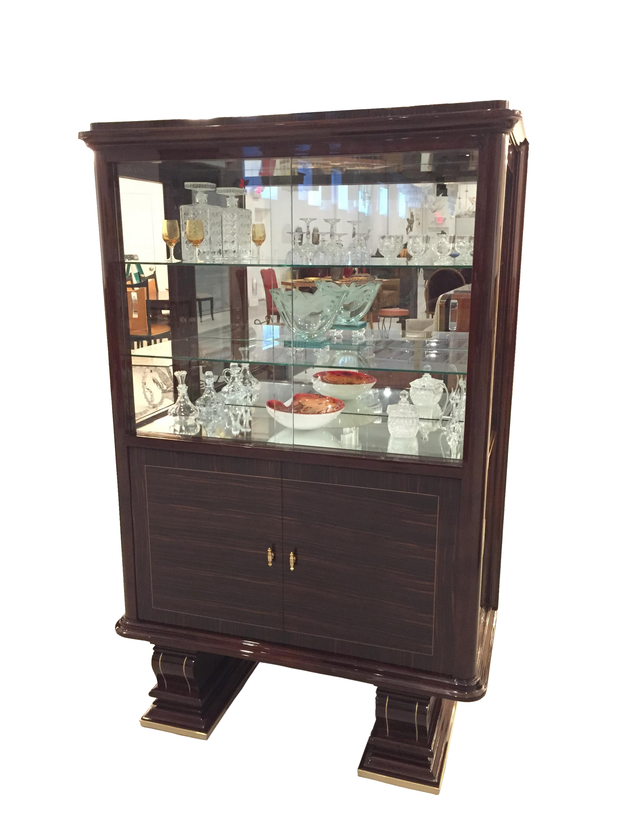 french art deco vitrine display cabinet modernism. Black Bedroom Furniture Sets. Home Design Ideas
