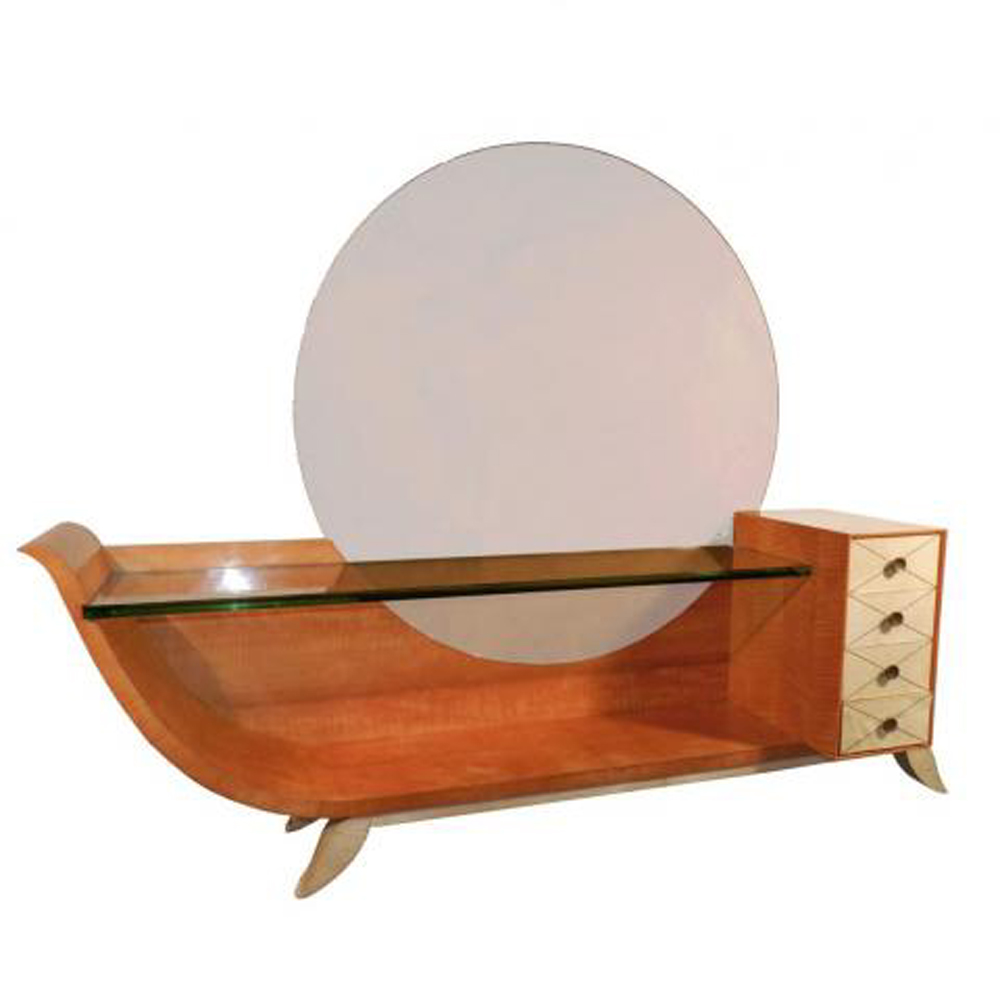 Large French Art Deco Asymmetrical Vanity Modernism