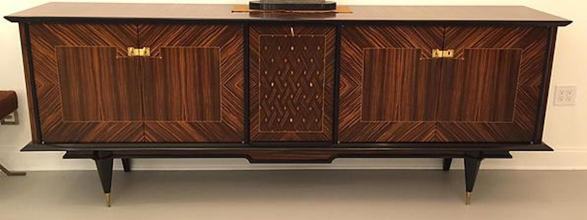 french art deco exotic macassar ebony buffet modernism. Black Bedroom Furniture Sets. Home Design Ideas