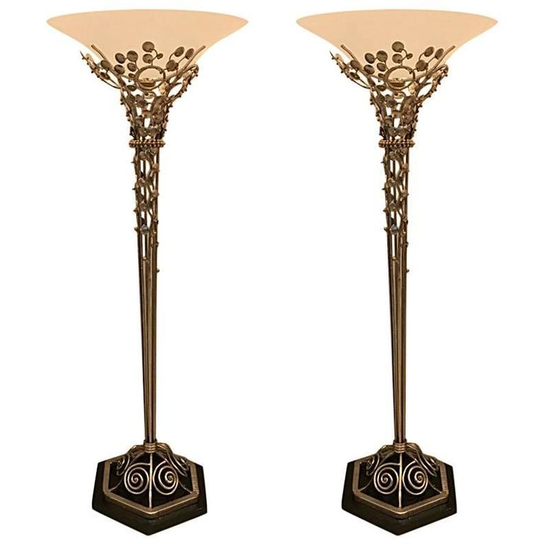 Art Deco Floor Lamp Best Pair Of French Art Deco Floor Lamps With Marble Base Modernism