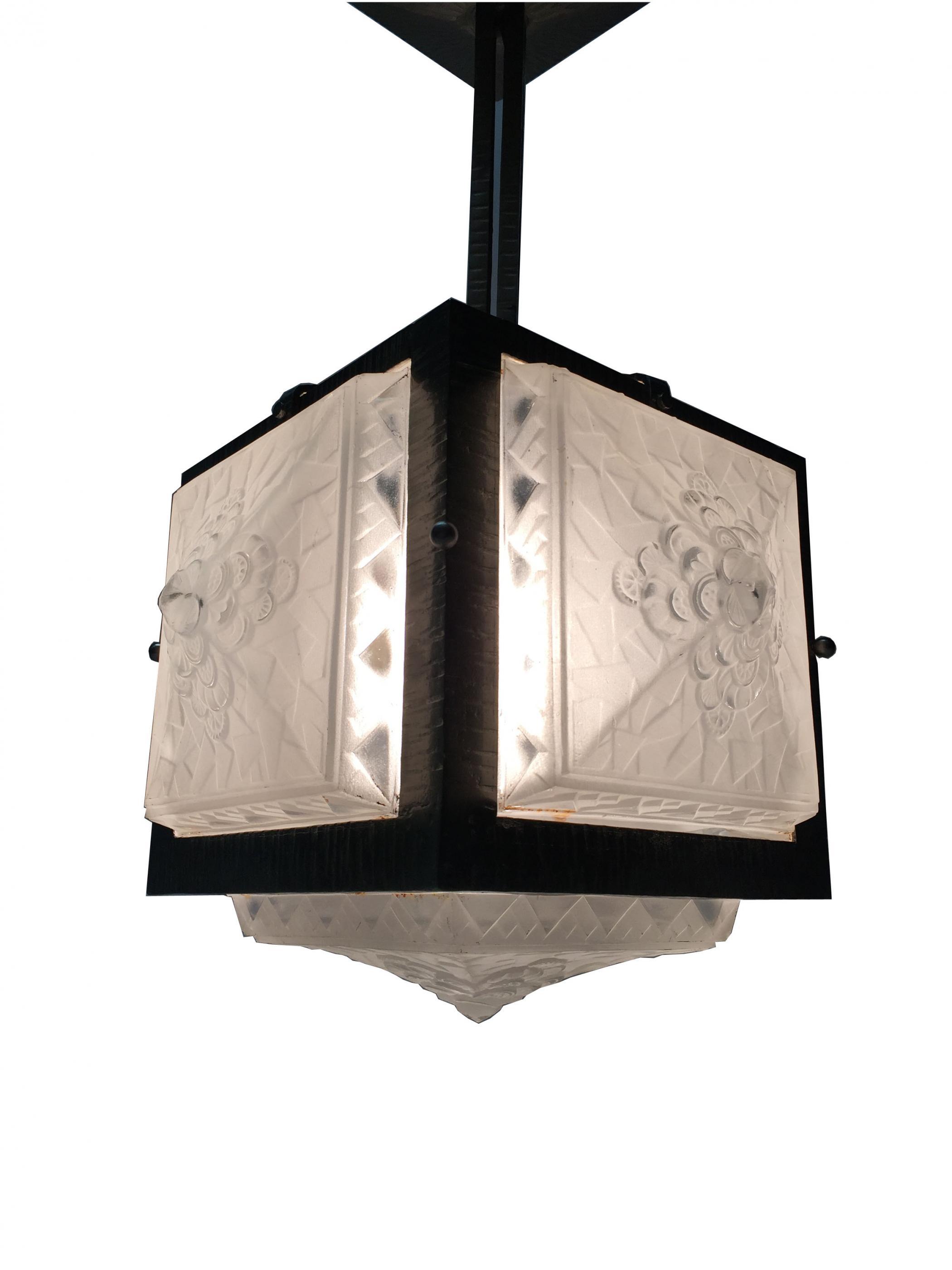 ceilings art chandelier sold shop vintage shades light glass ceiling etched deco s