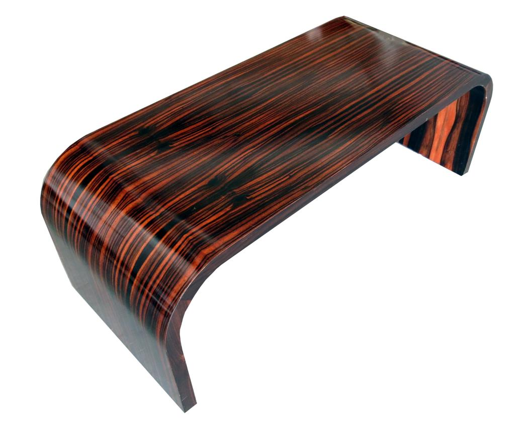 Genial American Art Deco Macassar Ebony Coffee Table