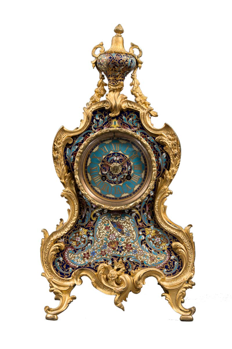 French Ormolu Bronze Amp Champlev 233 Enamel 8day Regulator