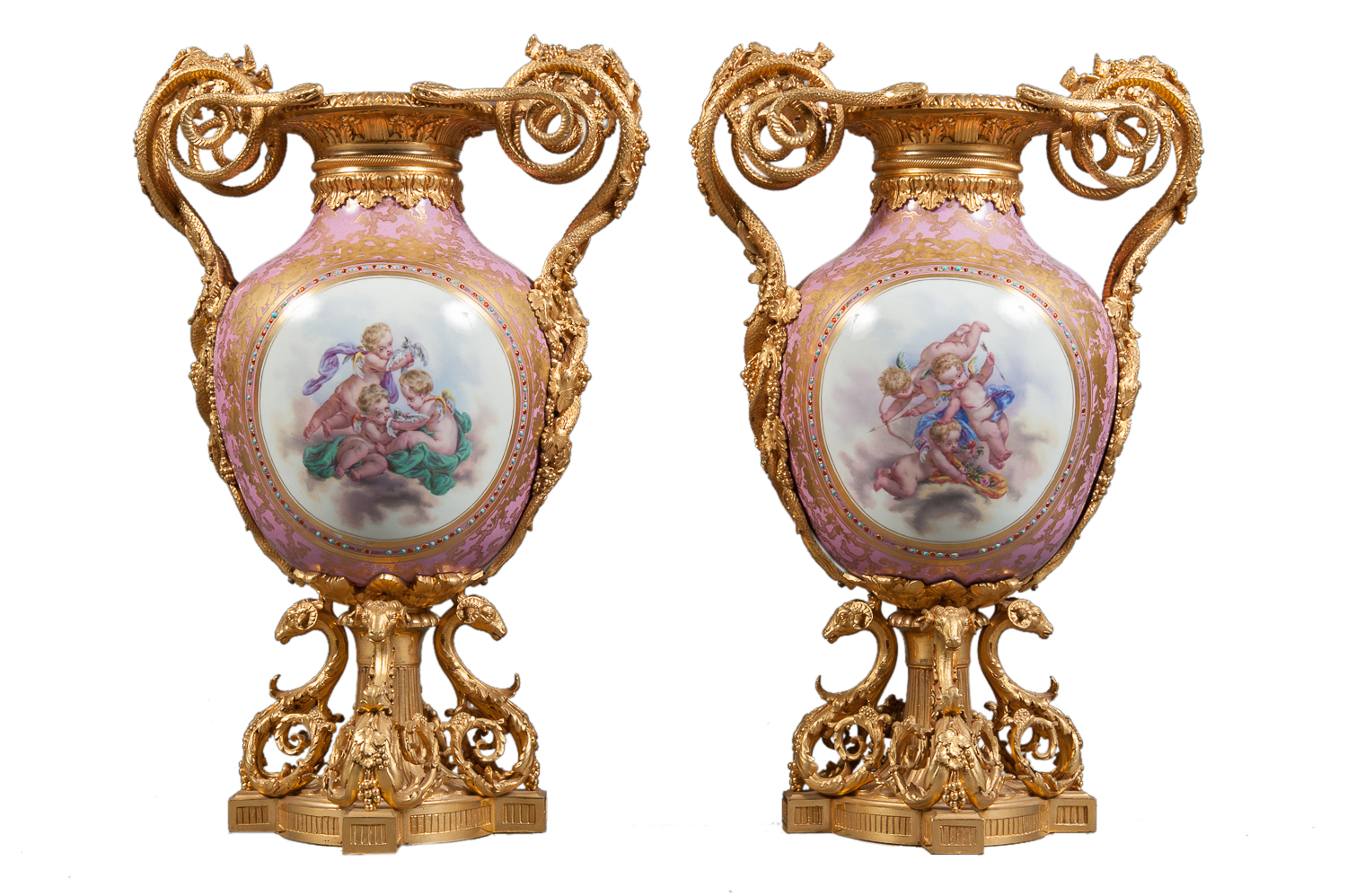 French Sevres Porcelain Gilt Bronze Mounted Amp Jeweled