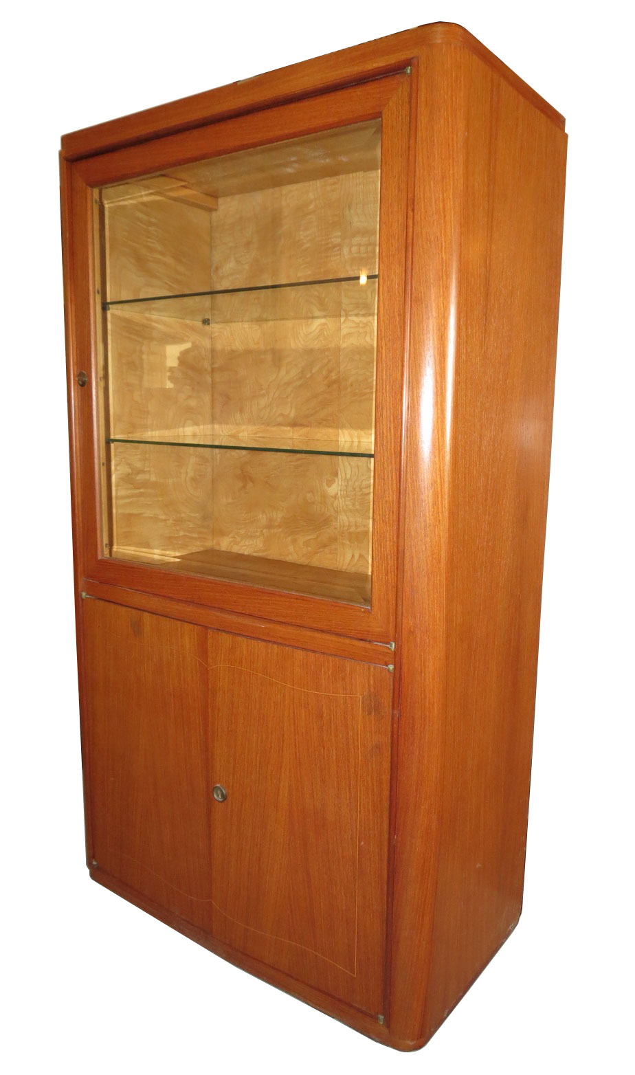 french art deco walnut vitrine modernism. Black Bedroom Furniture Sets. Home Design Ideas