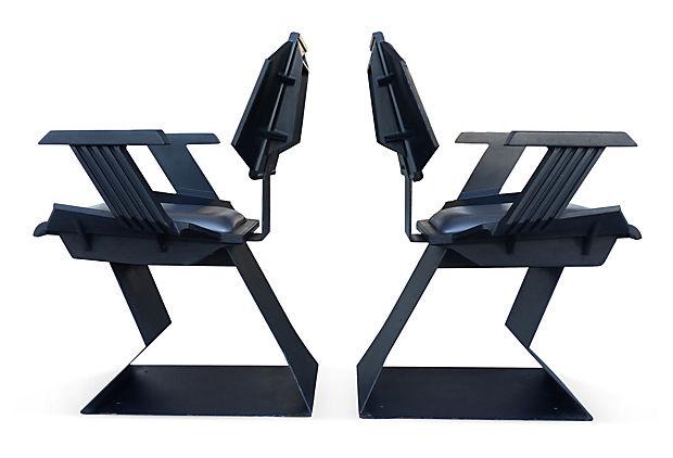 Buck Rogers Futuristic Chairs 1975