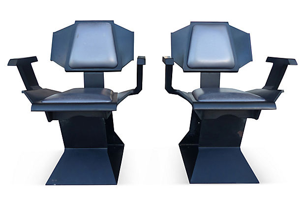 buck rogers futuristic chairs 1975 modernism