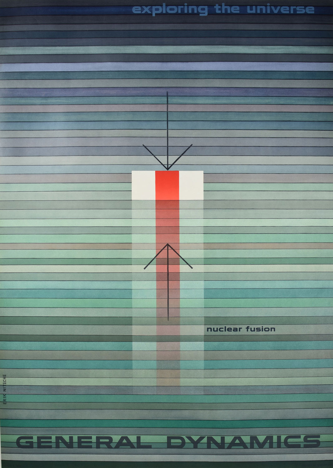 General Dynamics Nuclear Fusion Poster Modernism