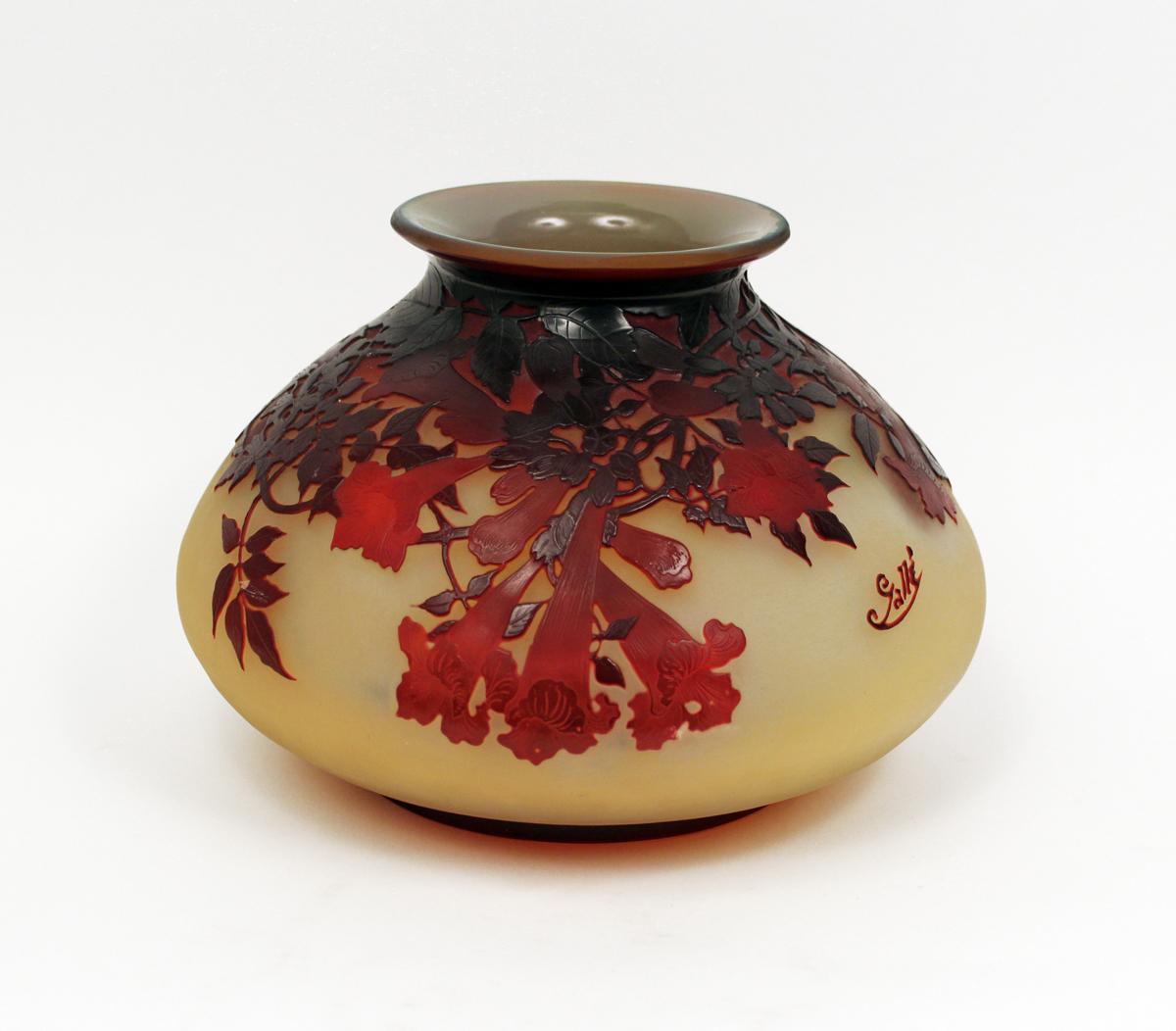 Art Nouveau Floral Vase By Emile Galle Modernism