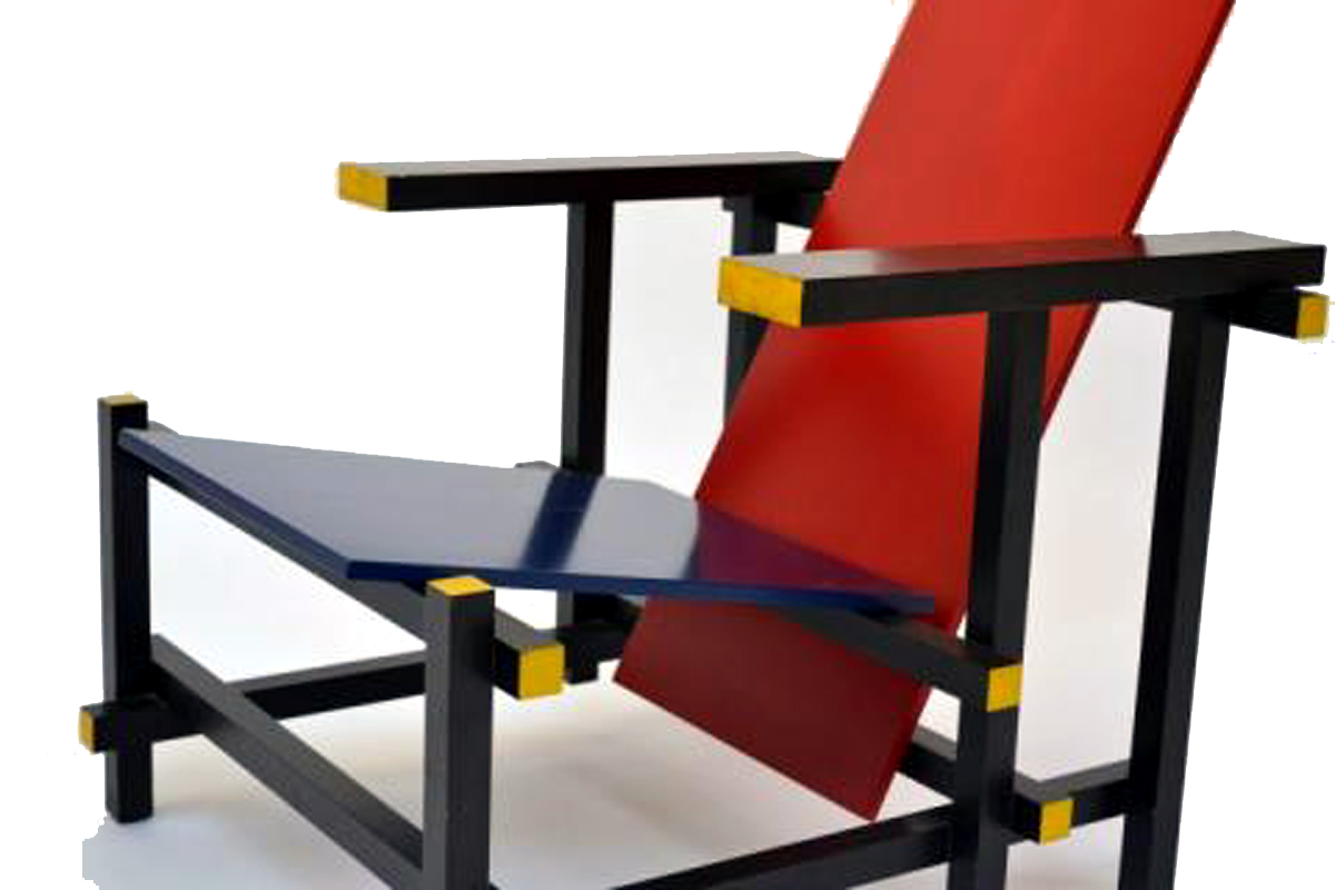 Armchair Red and Blue - Gerrit Rietveld - Cassina | Modernism