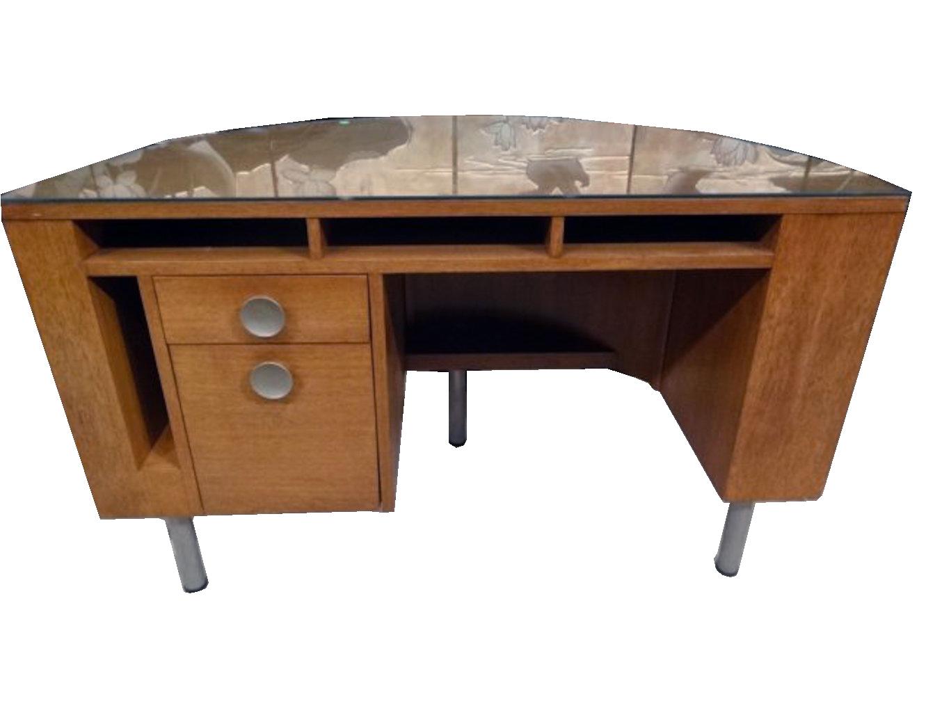Delicieux Gilbert Rohde Demi Lune Desk For Herman Miller