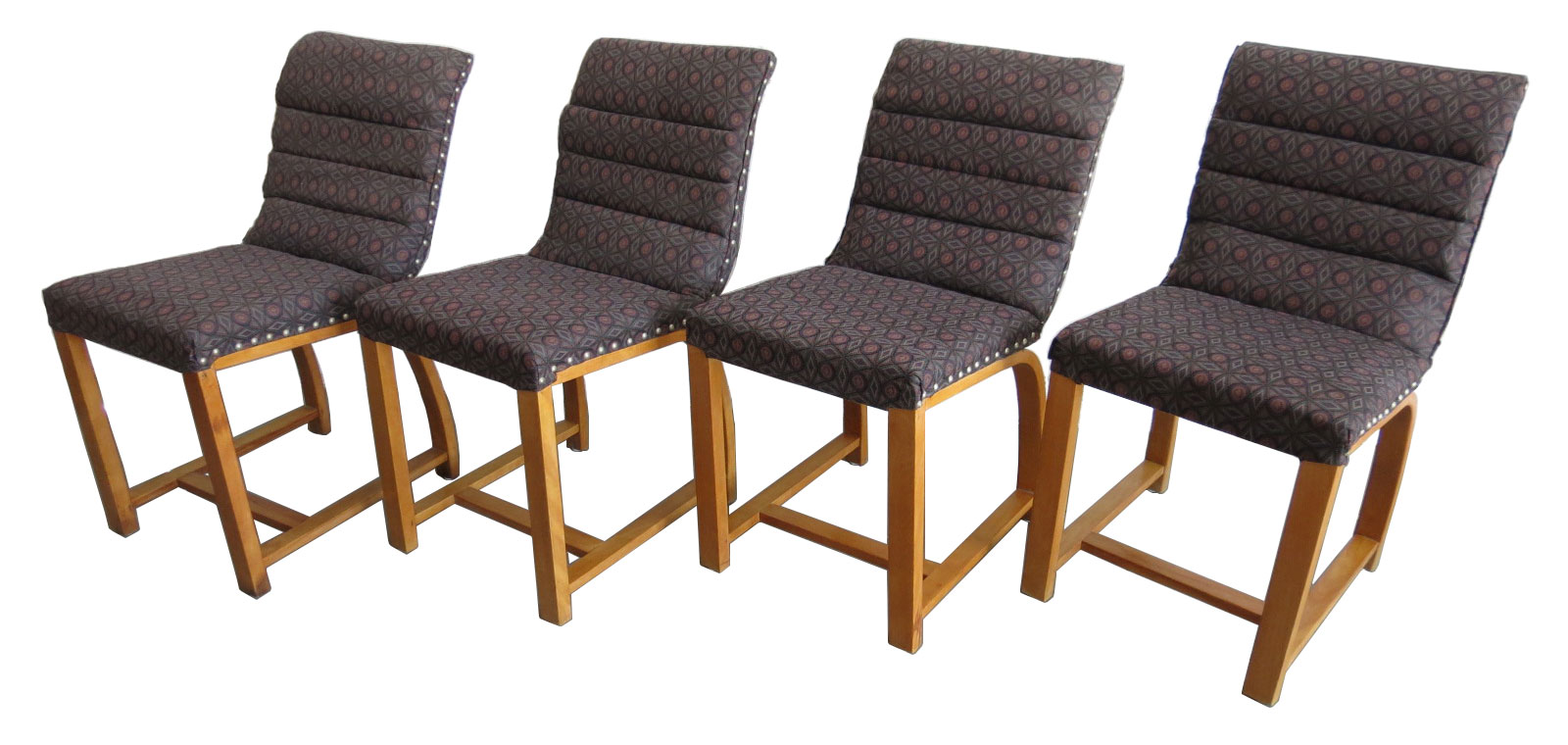 Exceptional Four American Art Deco Chairs By Gilbert Rohde