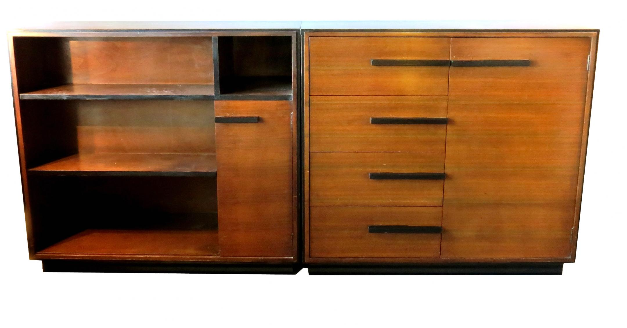 Gilbert Rohde American Art Deco Chest Bookcase For Kroehler Modernism