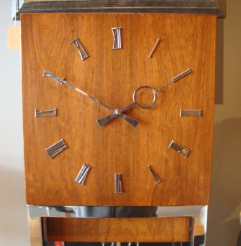 Mid Century Modern Lighted Grandfather Clock Ca 1960
