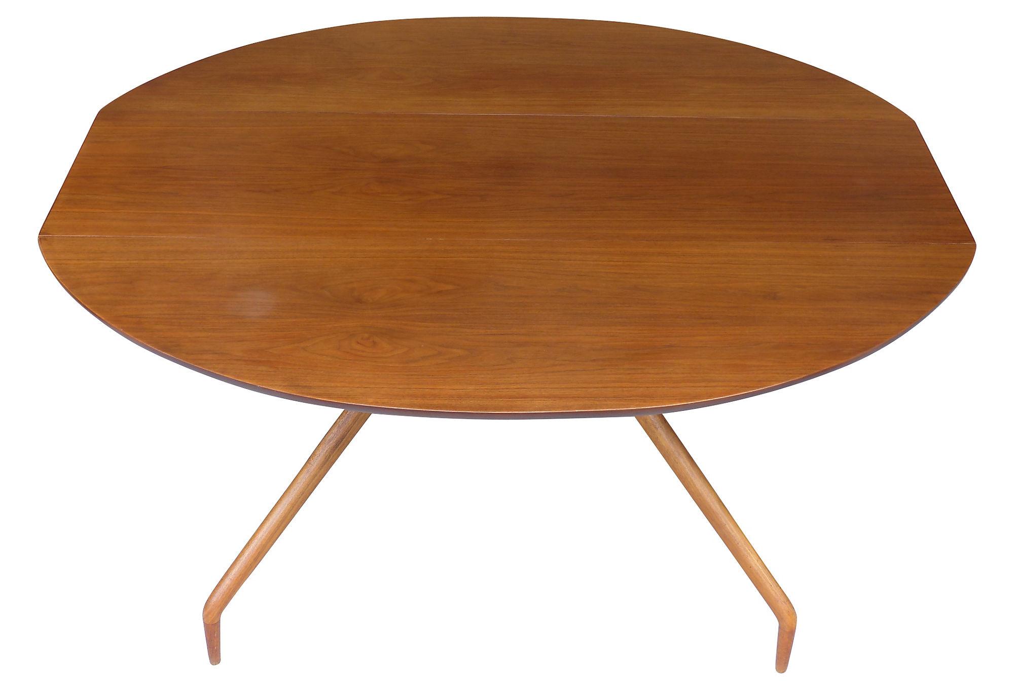Greta Grossman Walnut Drop leaf Table For Glenn Ca