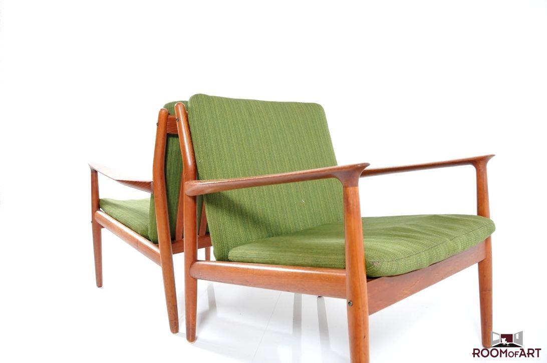 Pair Of Easychairs In Teak By Grete Jalk Modernism