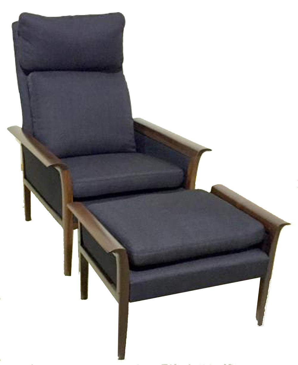 Vatne Mobler Rosewood Lounge Chair And Ottoman By Hans