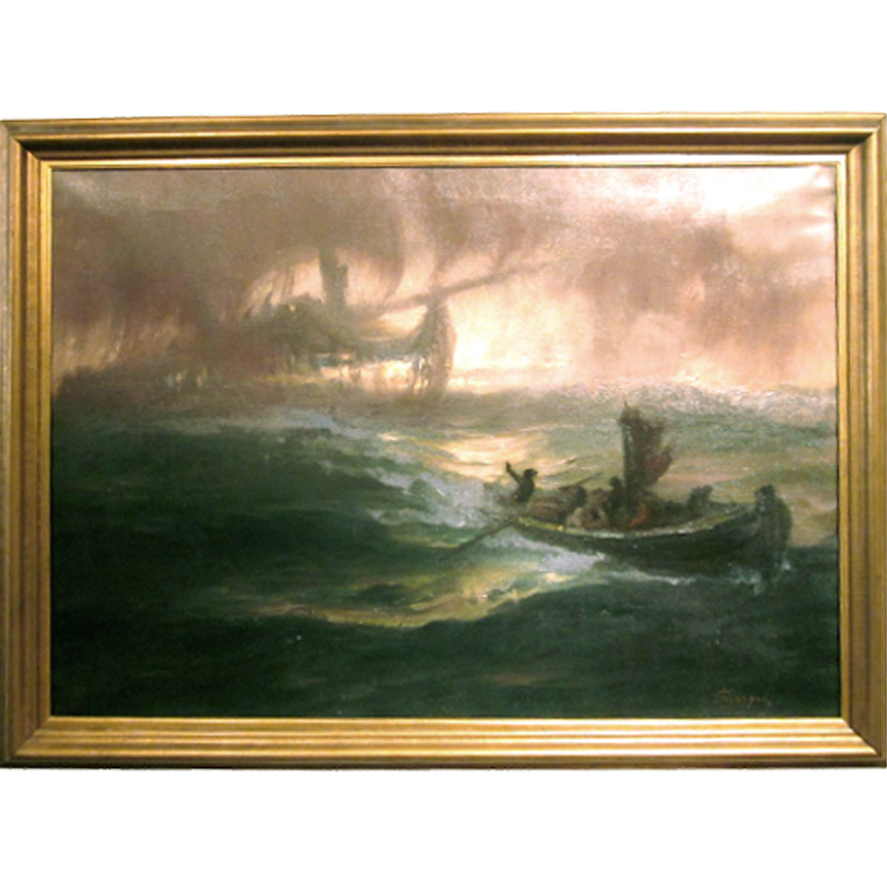 Oil Sighting Of The Flying Dutchman By Hermann