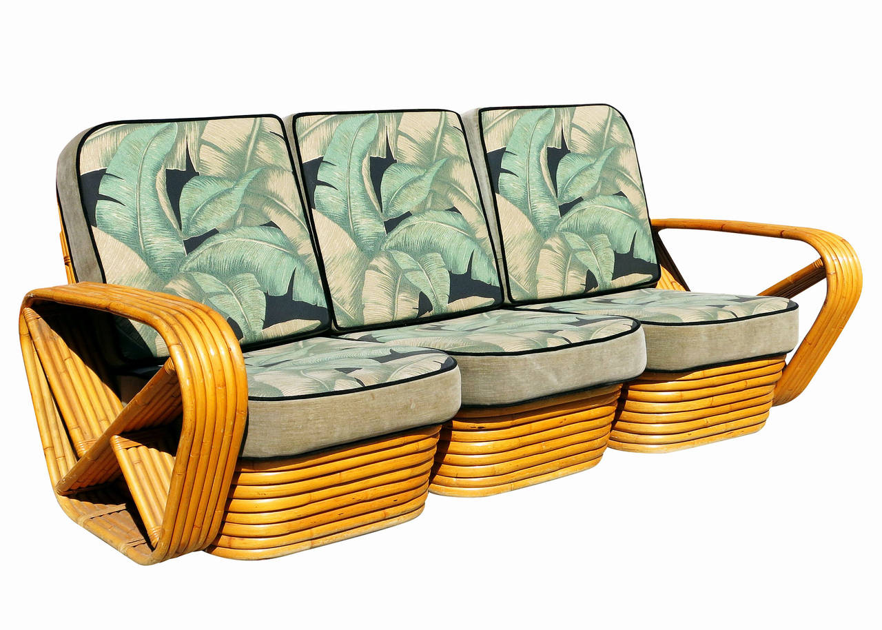 Paul Frankl Style Sofa And Lounge Chair Set Modernism