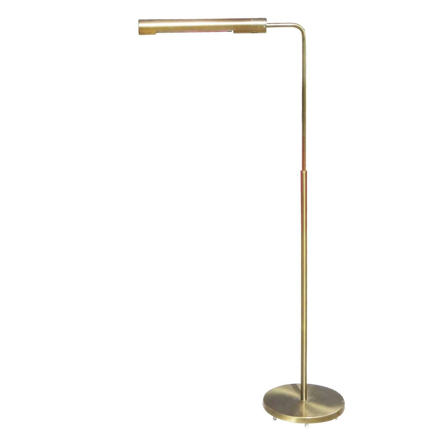 Long Cylinder Form Brass Reading Floor Lamp By Casella Modernism