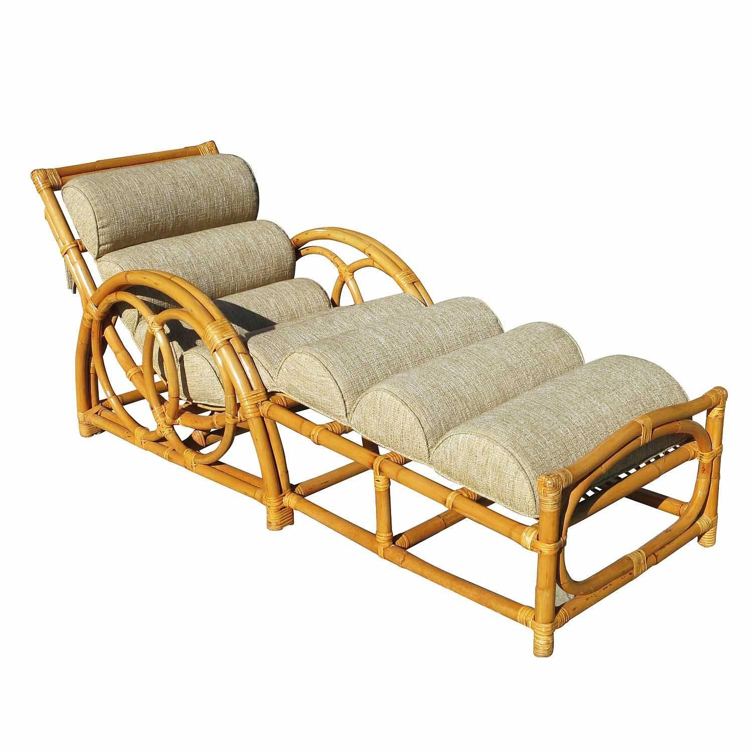 Attractive Half Moon Rattan Chaise Longue Chair | Modernism SU78