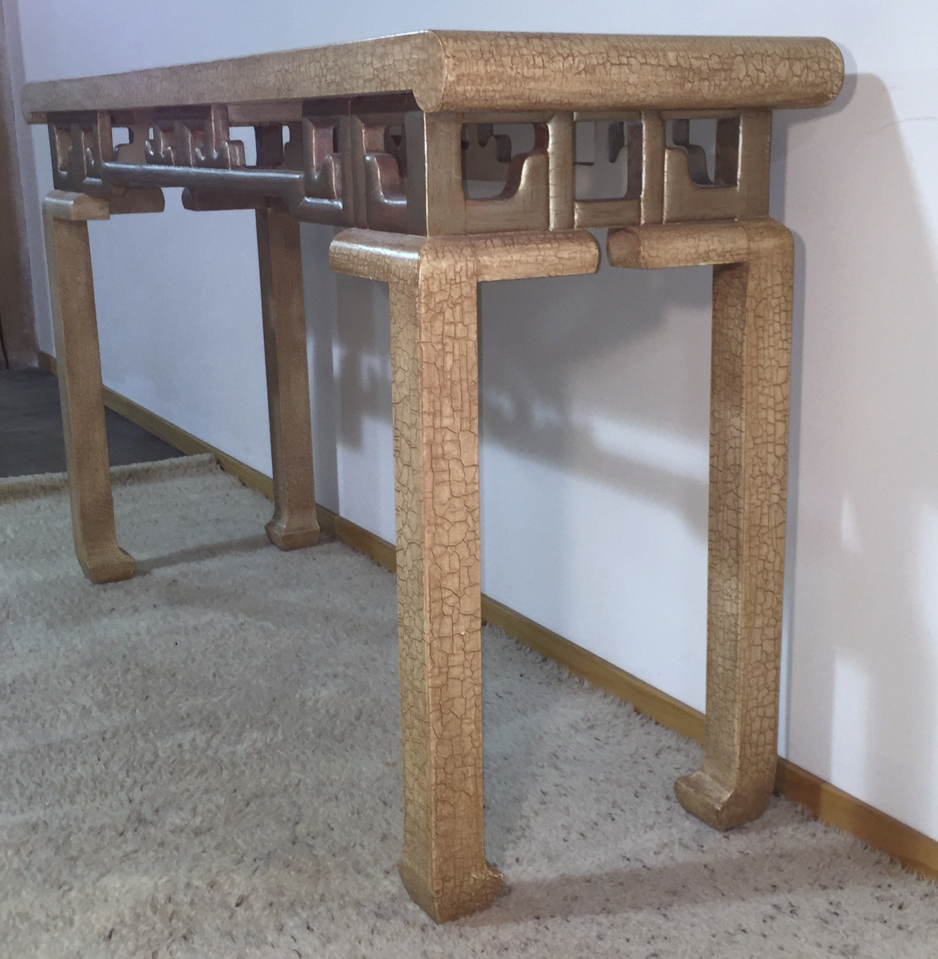 1975 Vintage Baker Asian Inspired Console Table Modernism
