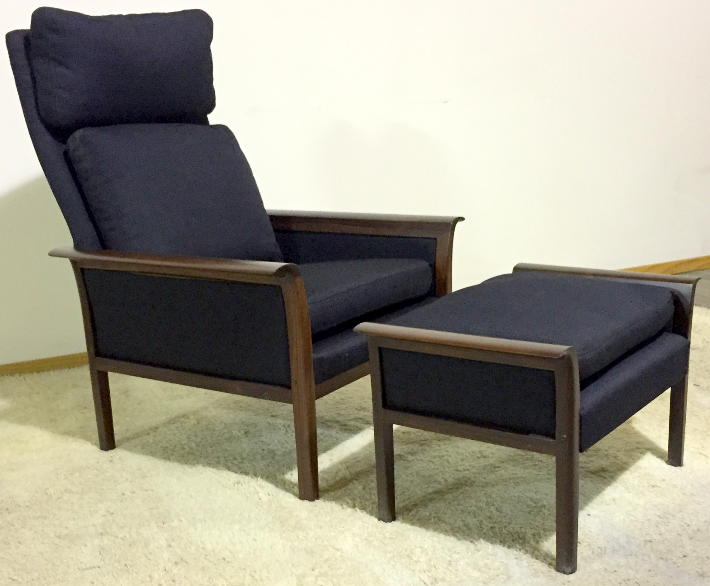 Vatne Mobler Rosewood Lounge Chair And Ottoman By Hans Olsen