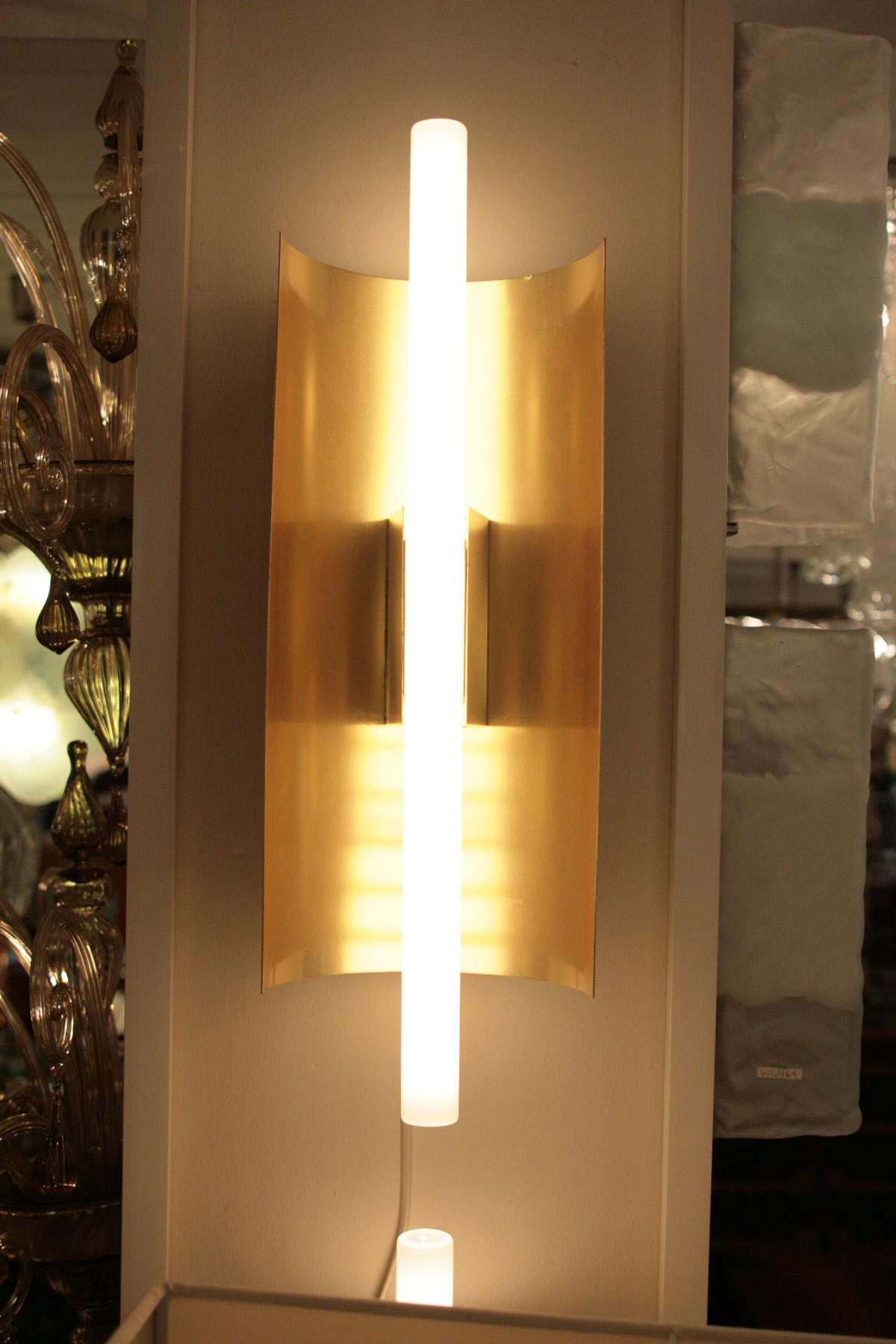 a pair of gio ponti wall lights mid century modern sconces  modernism - a pair of gio ponti wall lights mid century modern sconces